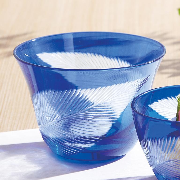 切子双葉ペア冷茶グラス
