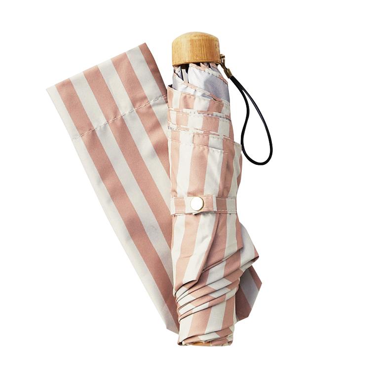ナチュラルストライプ・晴雨兼用折りたたみ傘