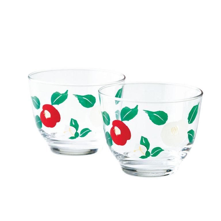 椿庵・冷茶グラス2個組