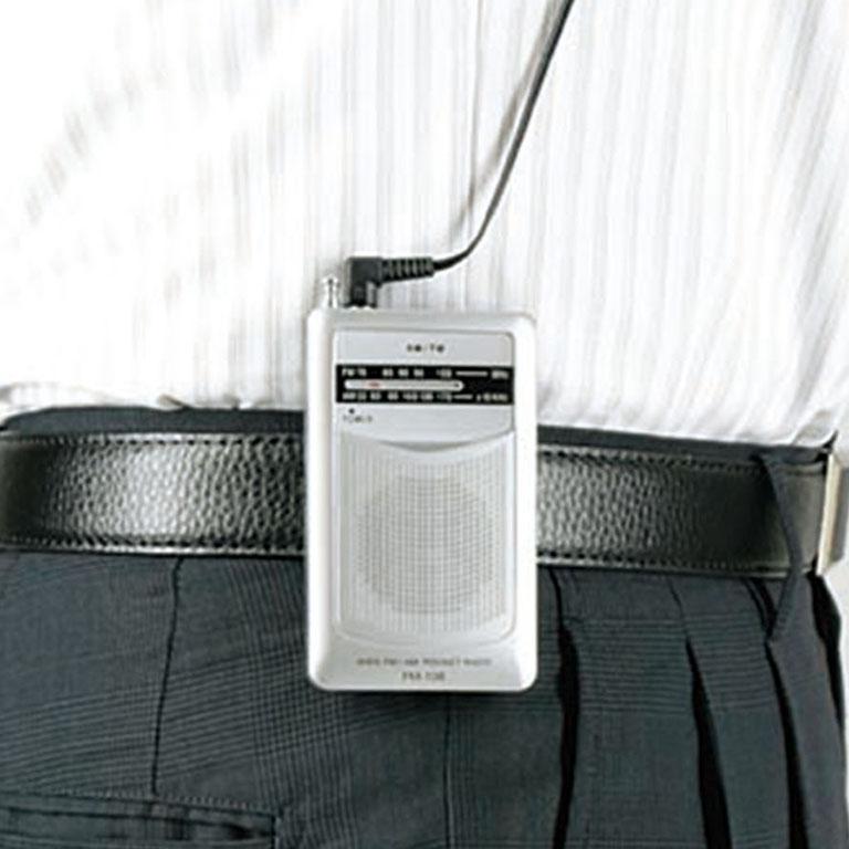 AM・FMポケットラジオ(ワイドFM機能搭載)