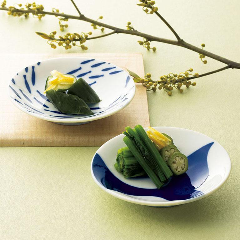 藍染/豆皿ペア