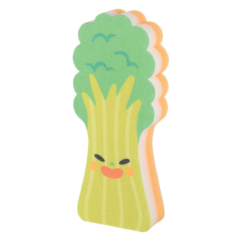 底まで洗える! 野菜さんロングスポンジ