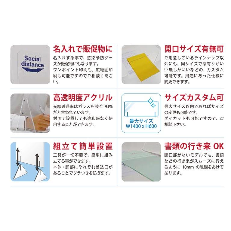 飛沫感染防止アクリルボードM