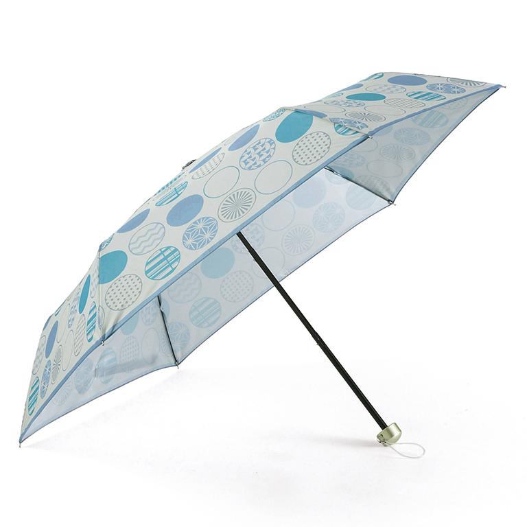 【完売】京都くろちく・晴雨兼用折傘(丸並べ)