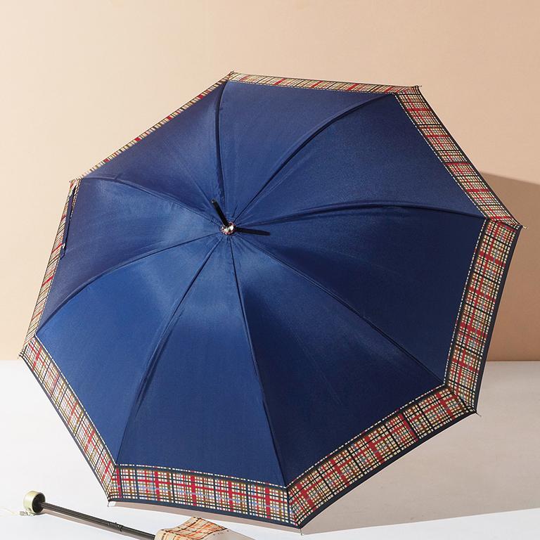 マドラスチェック・晴雨兼用長傘